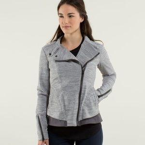 RARE Lululemon Bust A Move Gray Moto Style Jacket